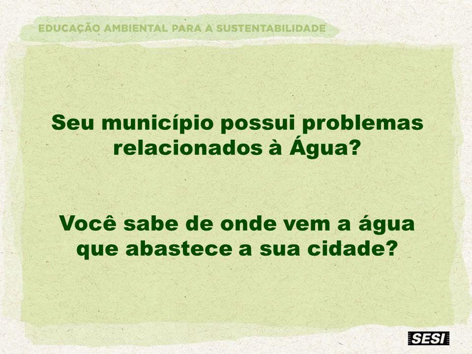 Seu município possui problemas relacionados à Água
