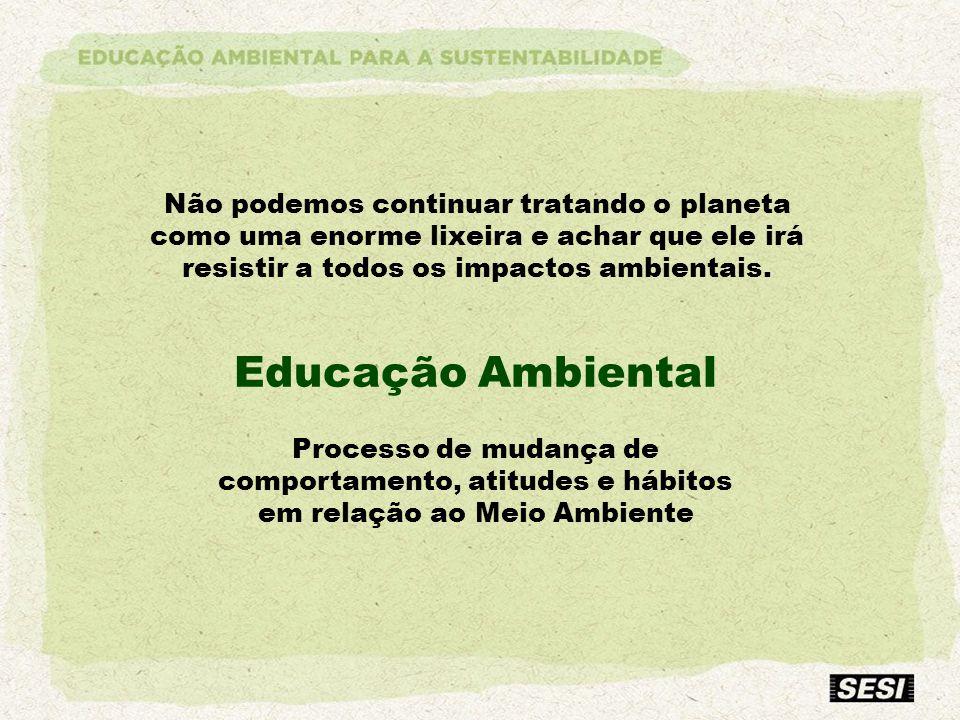 Processo de mudança de comportamento, atitudes e hábitos em relação ao Meio Ambiente
