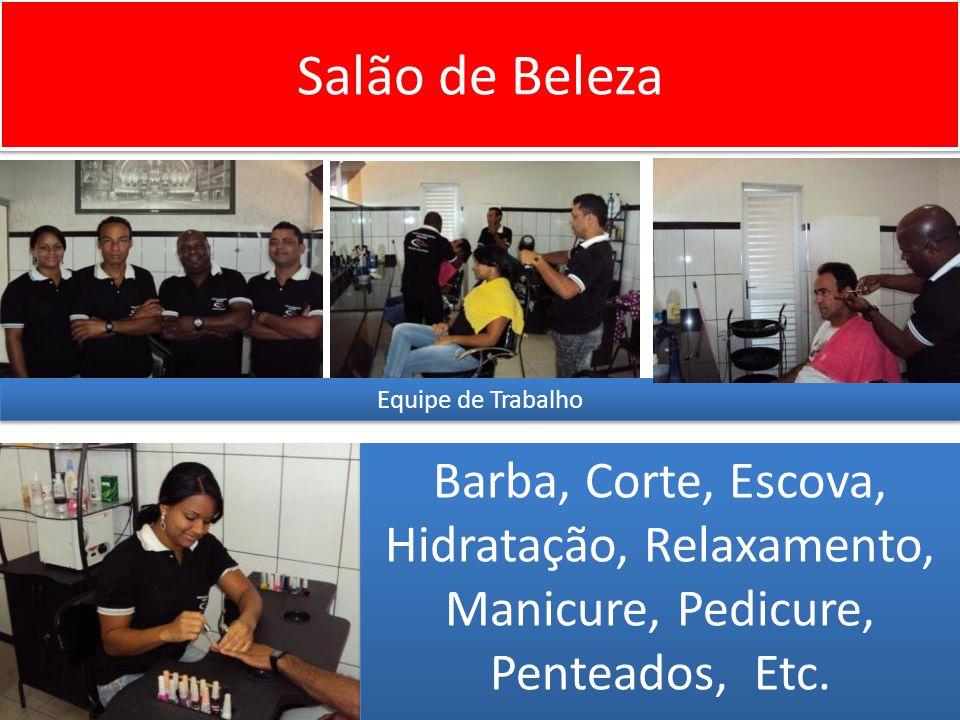 Salão de Beleza Equipe de Trabalho.