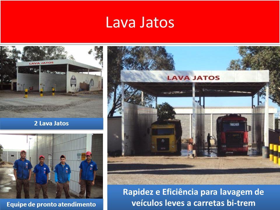 Lava Jatos 2 Lava Jatos. Rapidez e Eficiência para lavagem de veículos leves a carretas bi-trem.