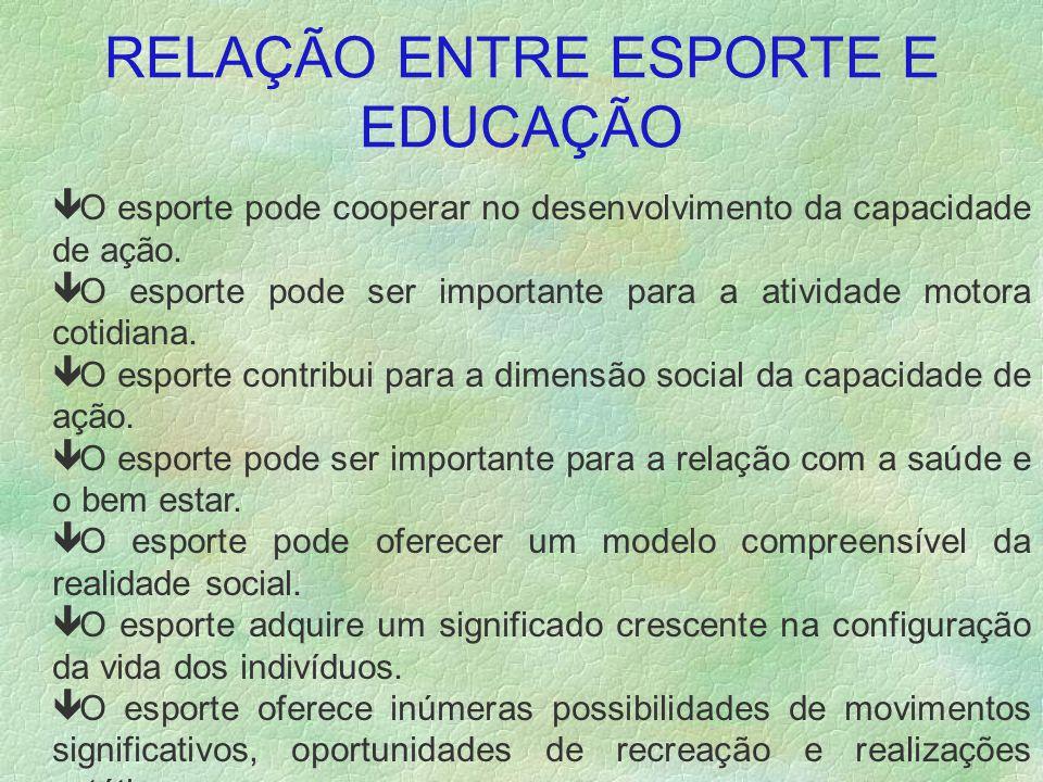 RELAÇÃO ENTRE ESPORTE E EDUCAÇÃO