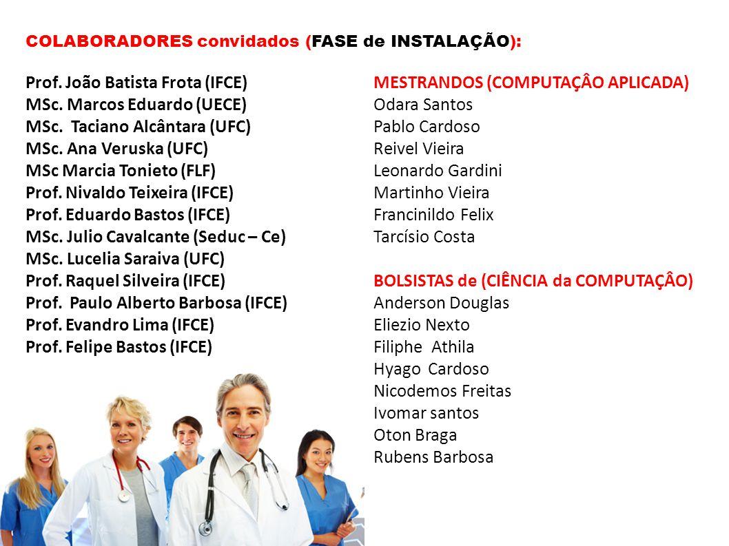 Prof. João Batista Frota (IFCE) MESTRANDOS (COMPUTAÇÂO APLICADA)