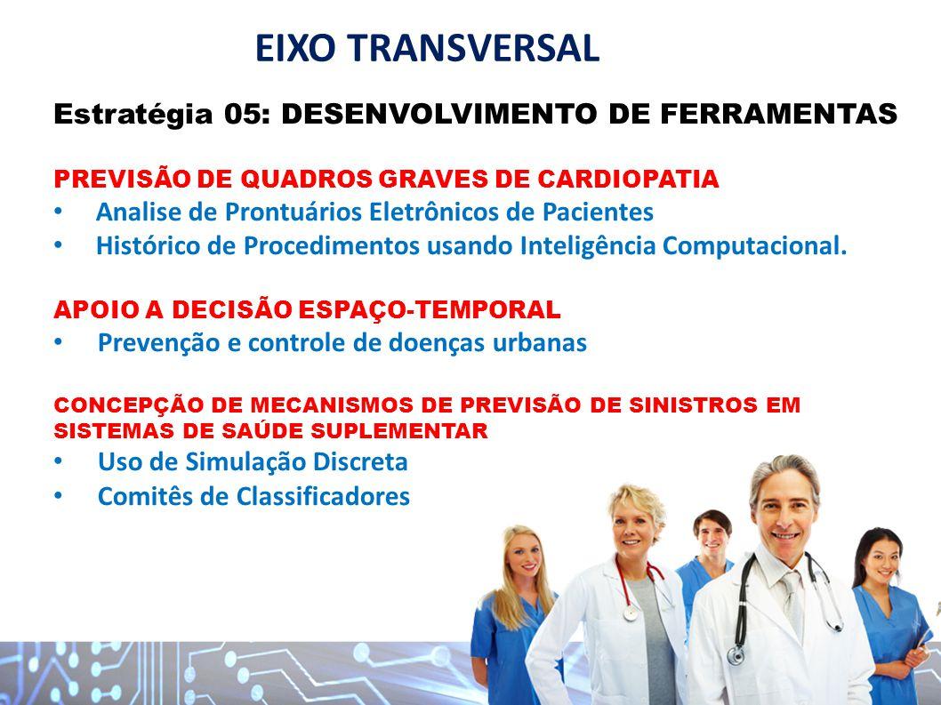 EIXO TRANSVERSAL Estratégia 05: DESENVOLVIMENTO DE FERRAMENTAS