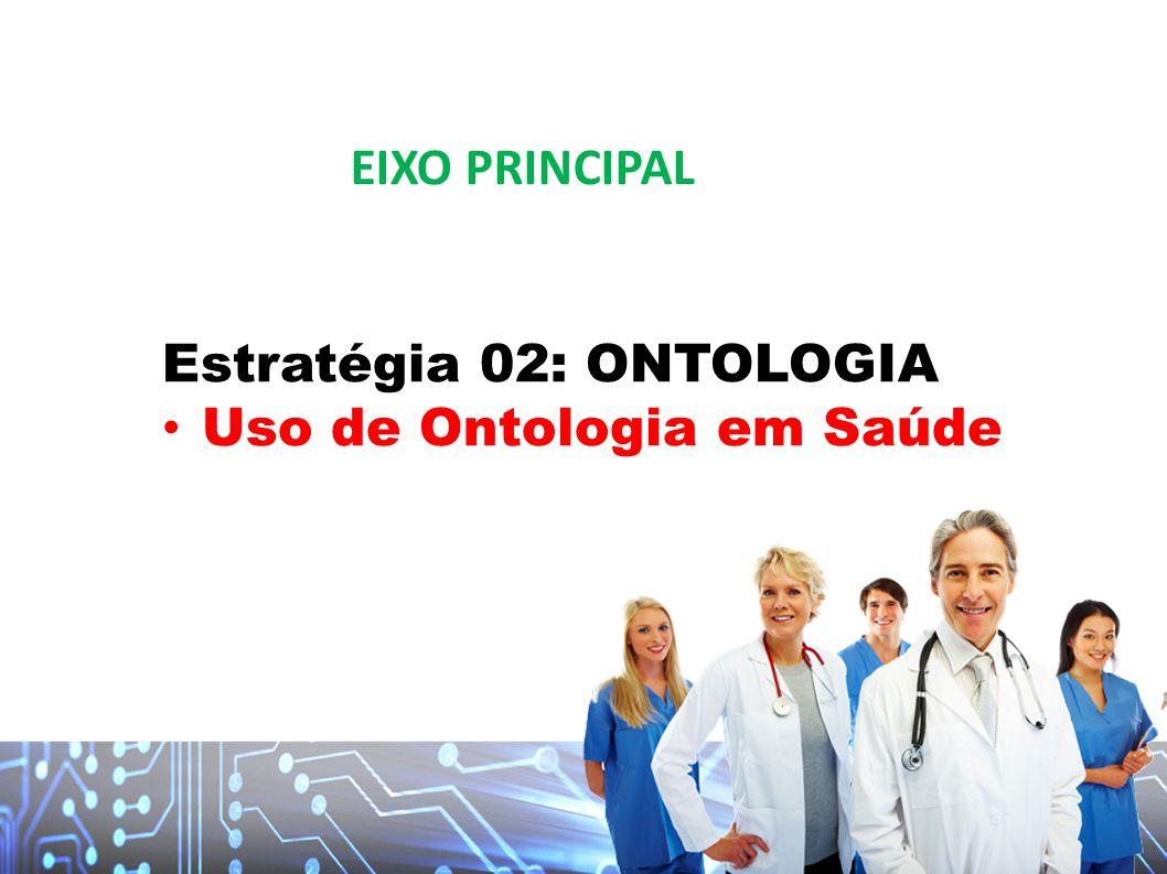 EIXO PRINCIPAL Estratégia 02: ONTOLOGIA Uso de Ontologia em Saúde