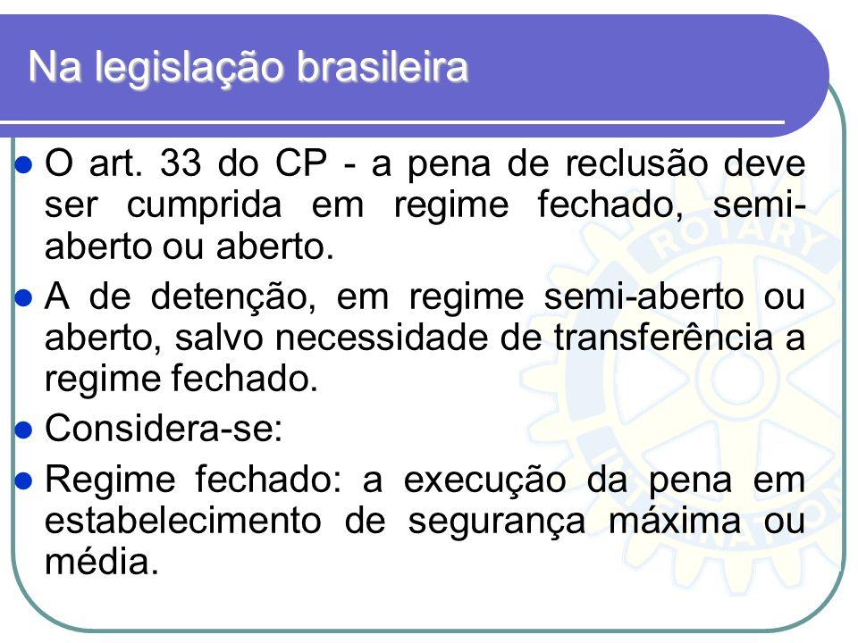 Na legislação brasileira