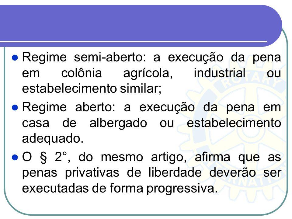 Regime semi-aberto: a execução da pena em colônia agrícola, industrial ou estabelecimento similar;