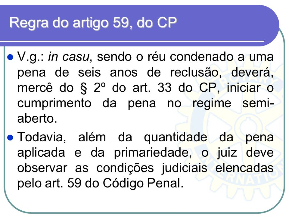 Regra do artigo 59, do CP