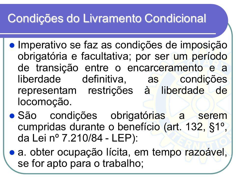 Condições do Livramento Condicional