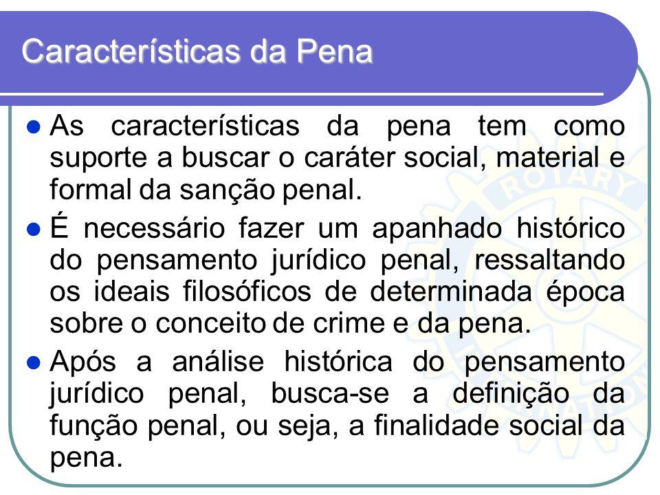 Características da Pena