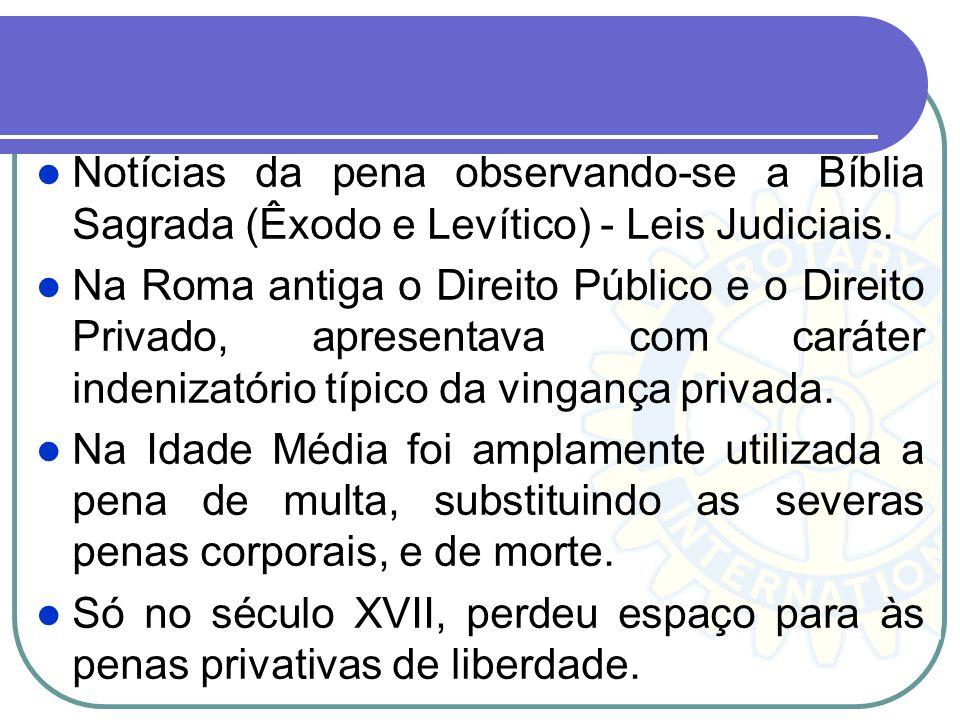 Notícias da pena observando-se a Bíblia Sagrada (Êxodo e Levítico) - Leis Judiciais.