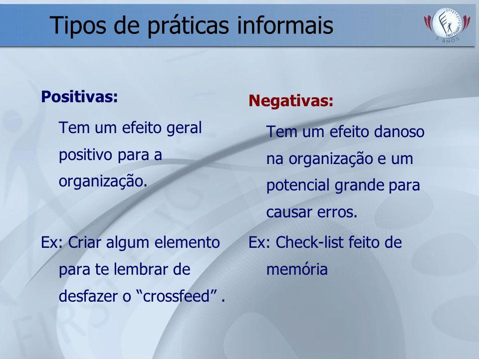 Tipos de práticas informais