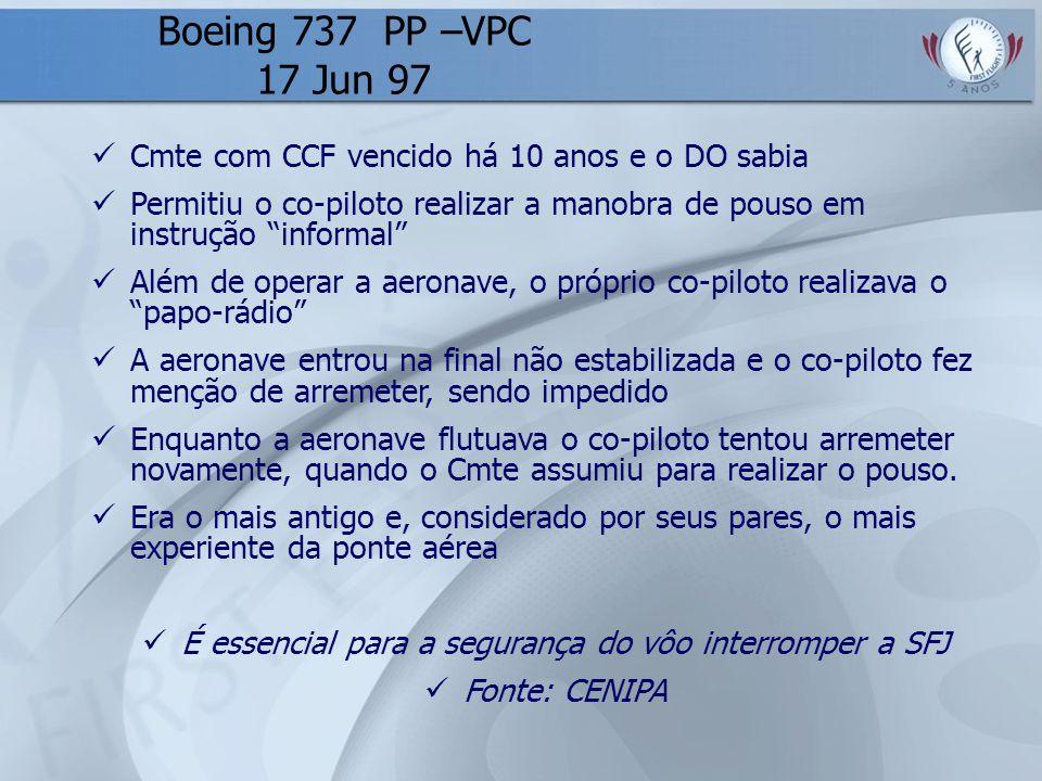 É essencial para a segurança do vôo interromper a SFJ