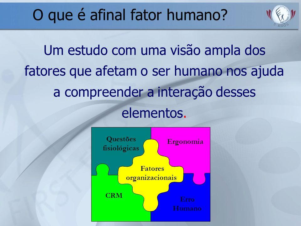 O que é afinal fator humano