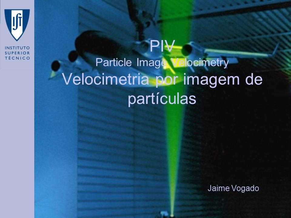 PIV Particle Image Velocimetry Velocimetria por imagem de partículas