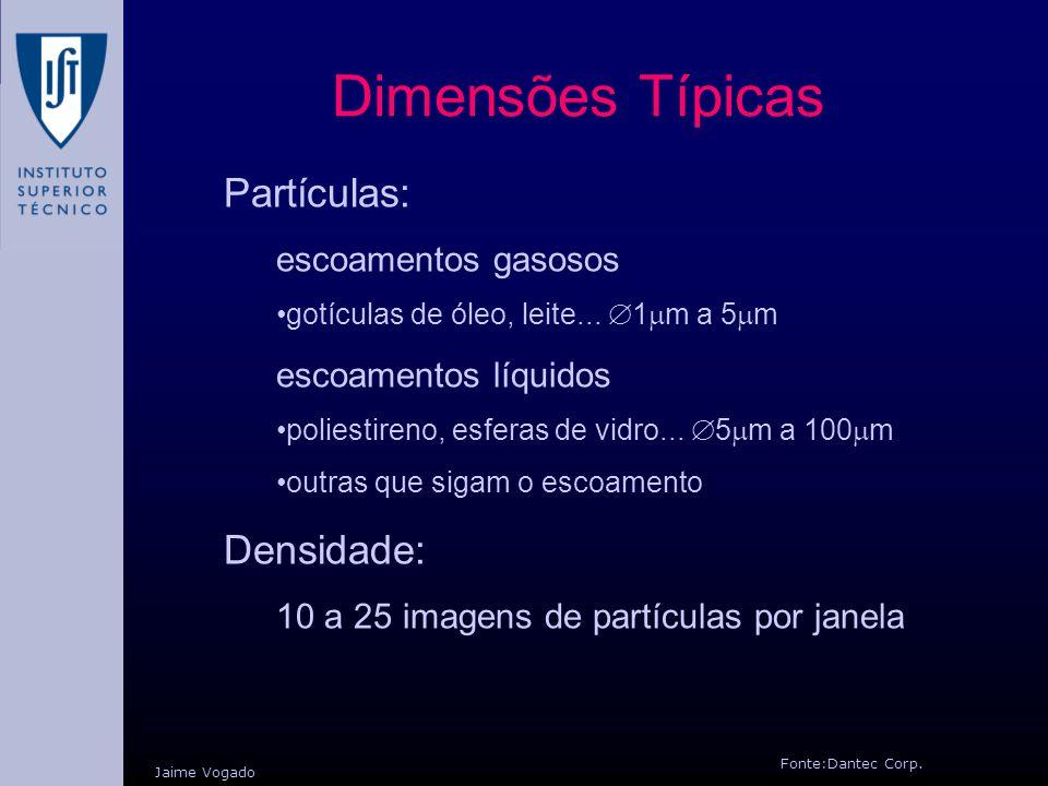 Dimensões Típicas Partículas: Densidade: escoamentos gasosos