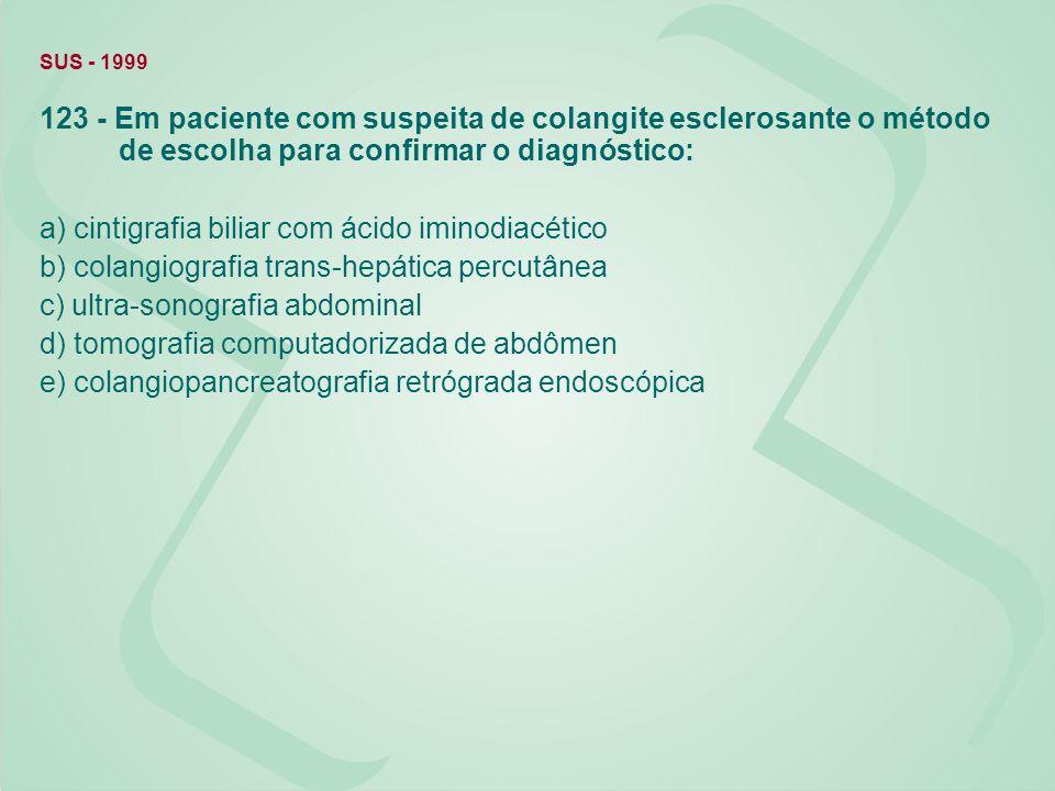 a) cintigrafia biliar com ácido iminodiacético