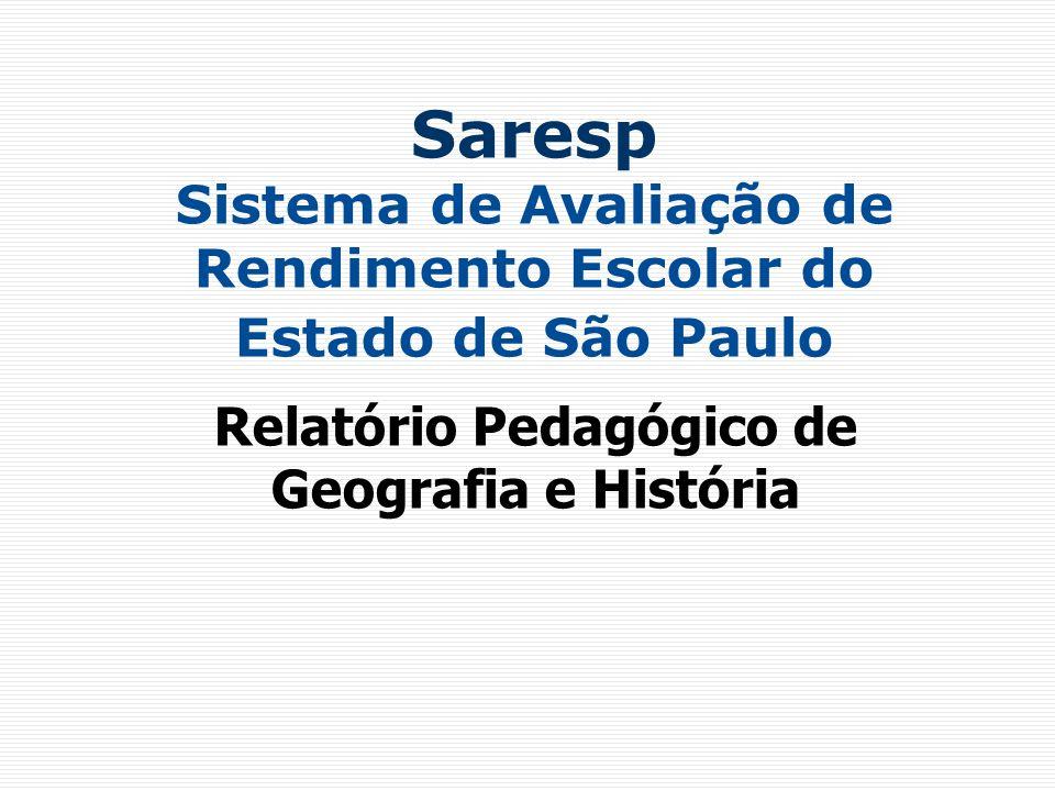 Relatório Pedagógico de Geografia e História
