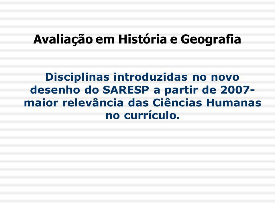 Avaliação em História e Geografia