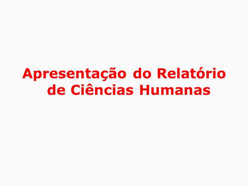 Apresentação do Relatório de Ciências Humanas