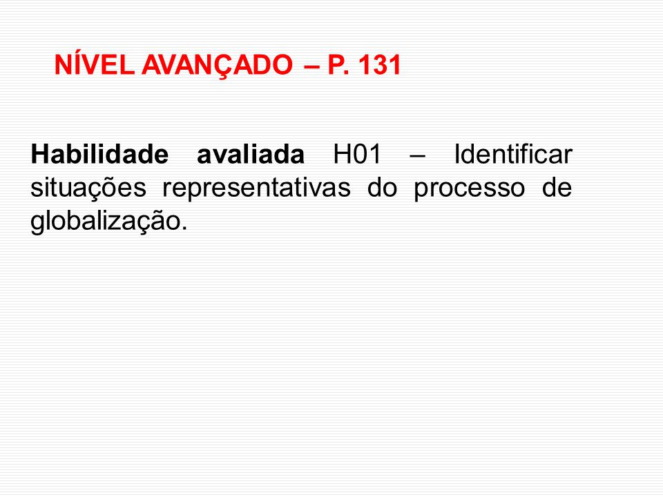 NÍVEL AVANÇADO – P.