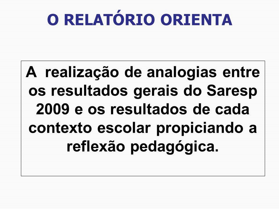 O RELATÓRIO ORIENTA