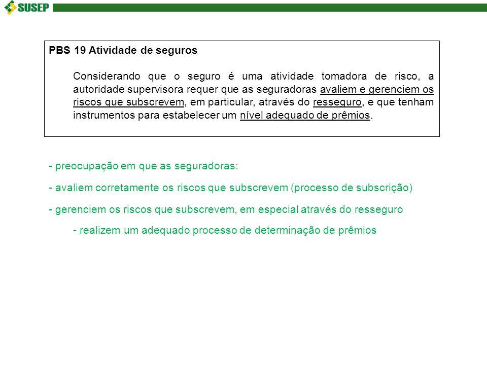 PBS 19 Atividade de seguros