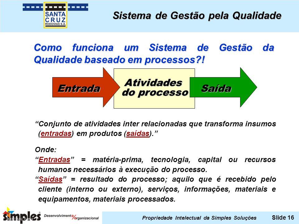 Sistema de Gestão pela Qualidade