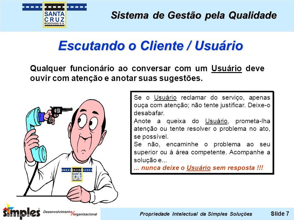 Escutando o Cliente / Usuário