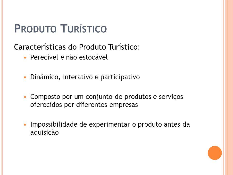 Produto Turístico Características do Produto Turístico: