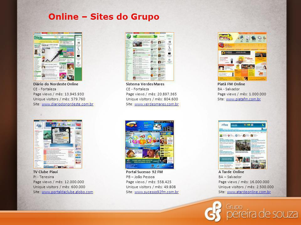 Online – Sites do Grupo Diário do Nordeste Online CE - Fortaleza