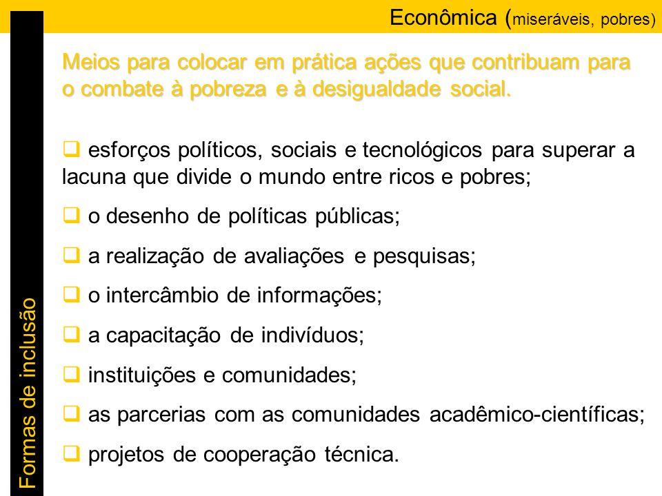 Econômica (miseráveis, pobres)