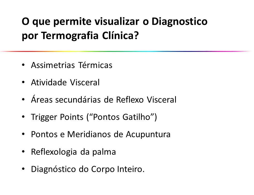 O que permite visualizar o Diagnostico por Termografia Clínica