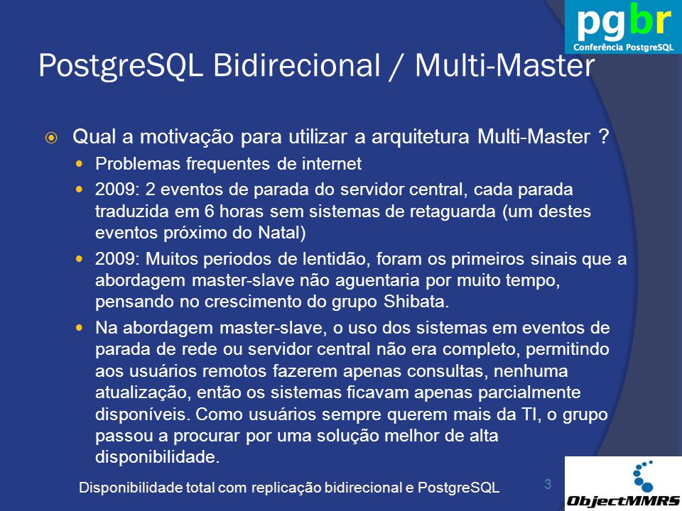 PostgreSQL Bidirecional / Multi-Master