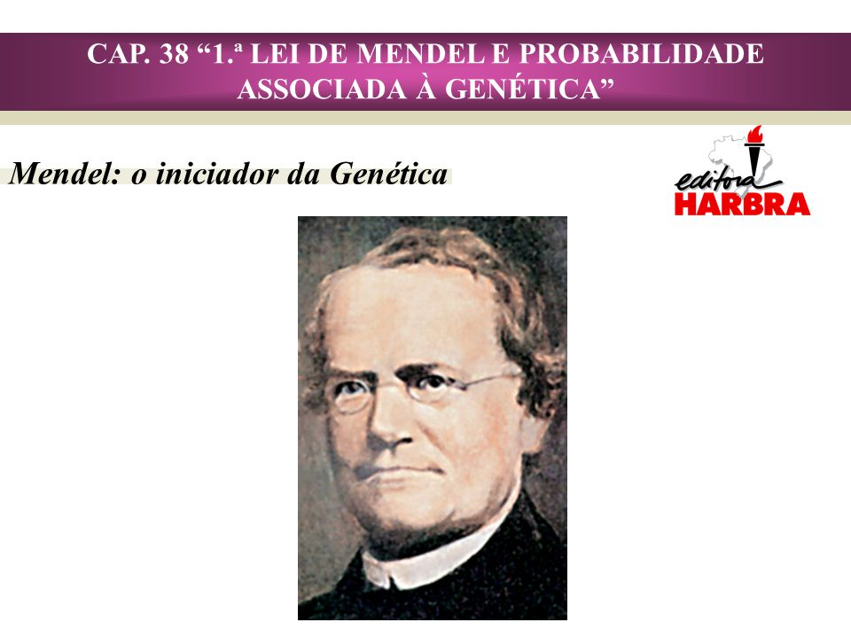 CAP. 38 1.ª LEI DE MENDEL E PROBABILIDADE ASSOCIADA À GENÉTICA
