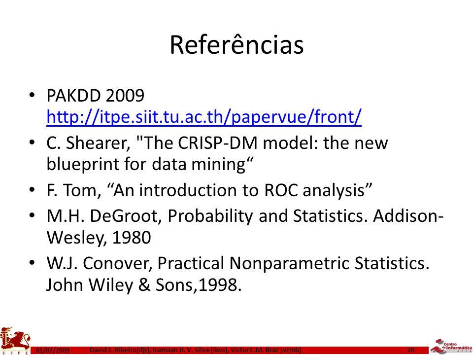 Referências PAKDD 2009 http://itpe.siit.tu.ac.th/papervue/front/