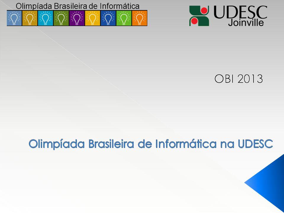 Olimpíada Brasileira de Informática na UDESC