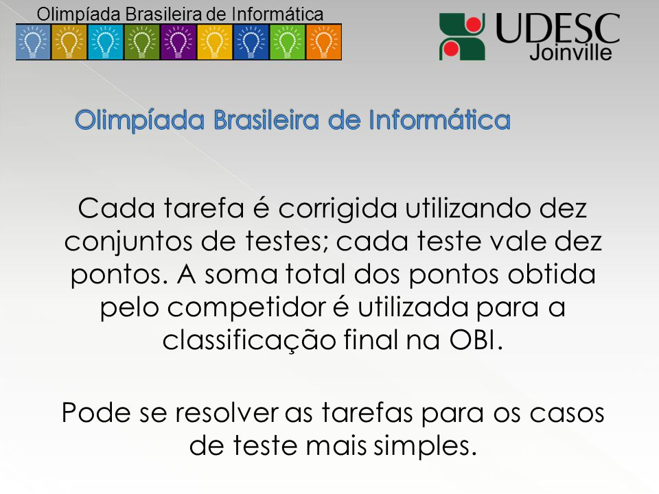 Olimpíada Brasileira de Informática