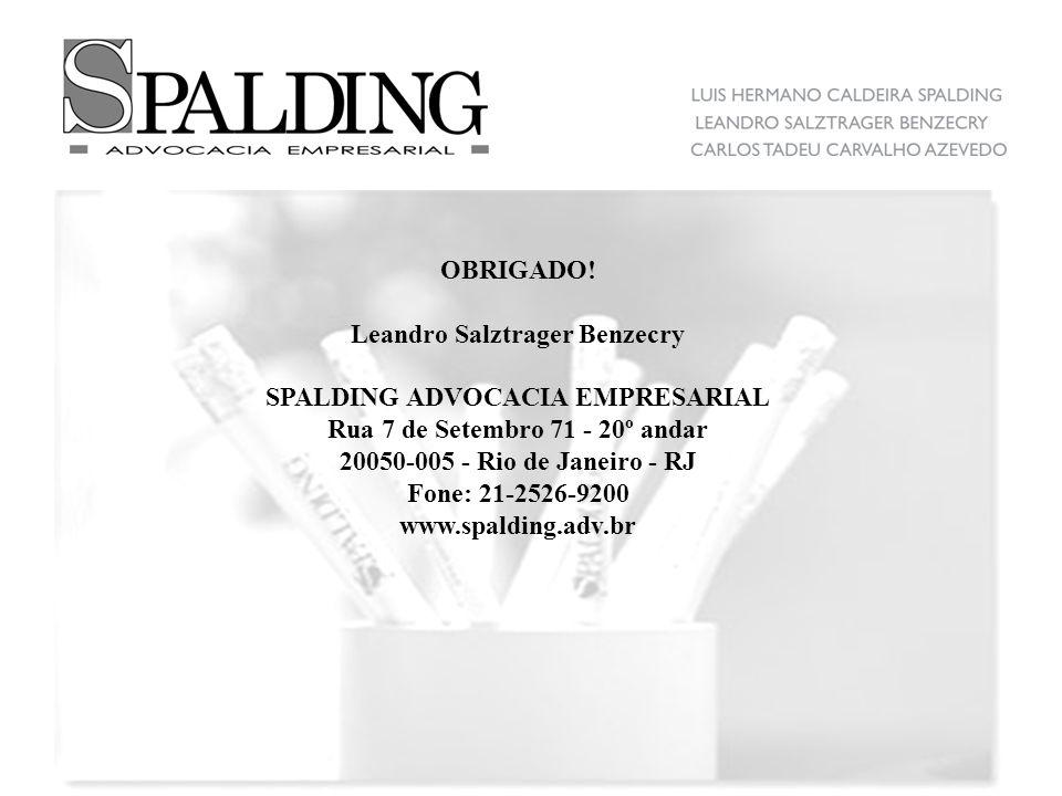 Leandro Salztrager Benzecry SPALDING ADVOCACIA EMPRESARIAL