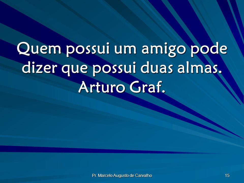 Quem possui um amigo pode dizer que possui duas almas. Arturo Graf.