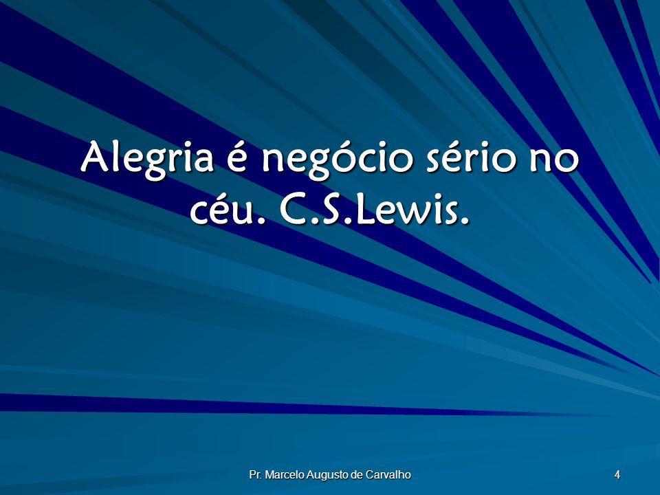 Alegria é negócio sério no céu. C.S.Lewis.