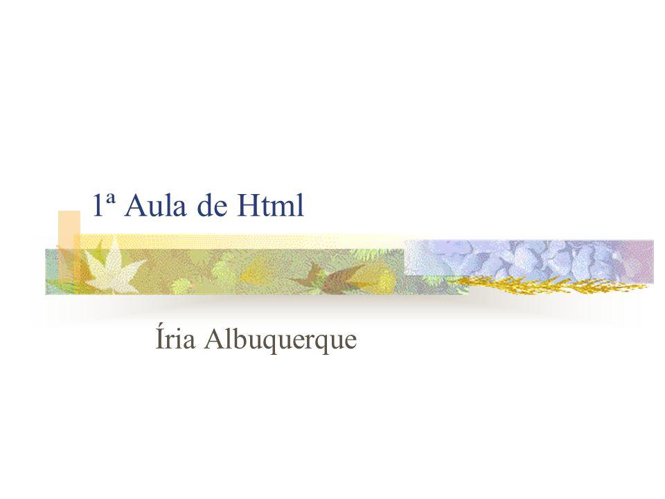 1ª Aula de Html Íria Albuquerque
