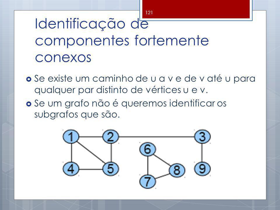 Identificação de componentes fortemente conexos