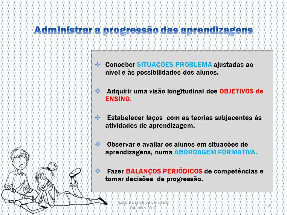 Administrar a progressão das aprendizagens