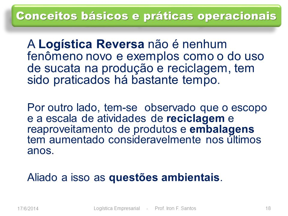 Conceitos básicos e práticas operacionais