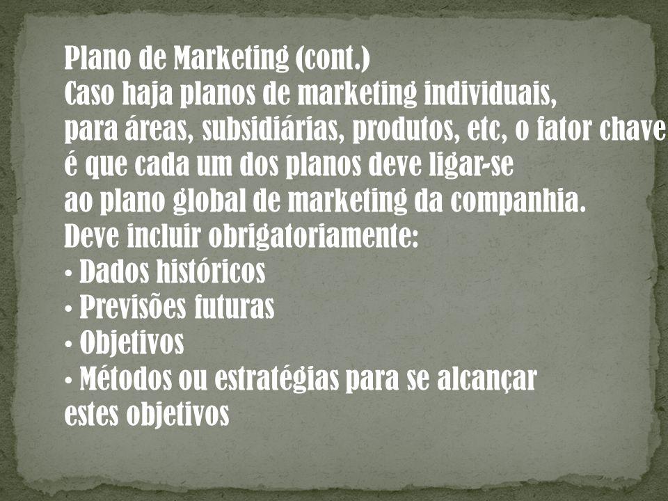 Plano de Marketing (cont.)
