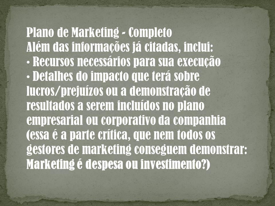 Plano de Marketing - Completo