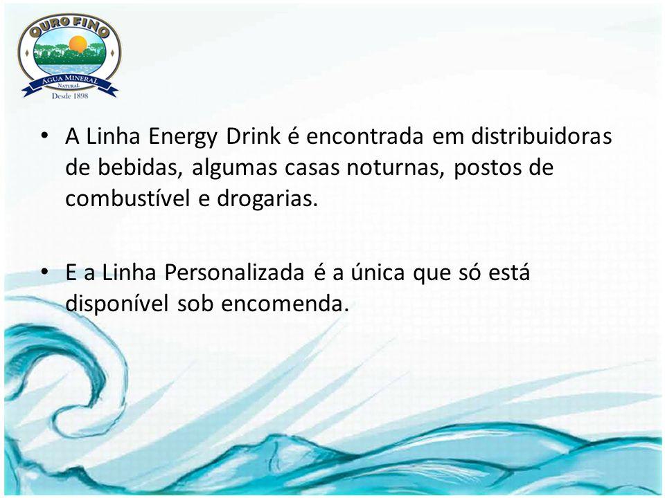A Linha Energy Drink é encontrada em distribuidoras de bebidas, algumas casas noturnas, postos de combustível e drogarias.