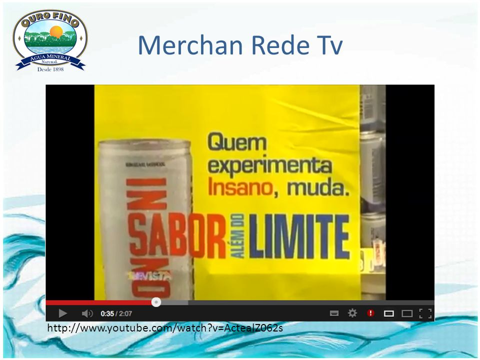 Merchan Rede Tv http://www.youtube.com/watch v=ActealZ062s