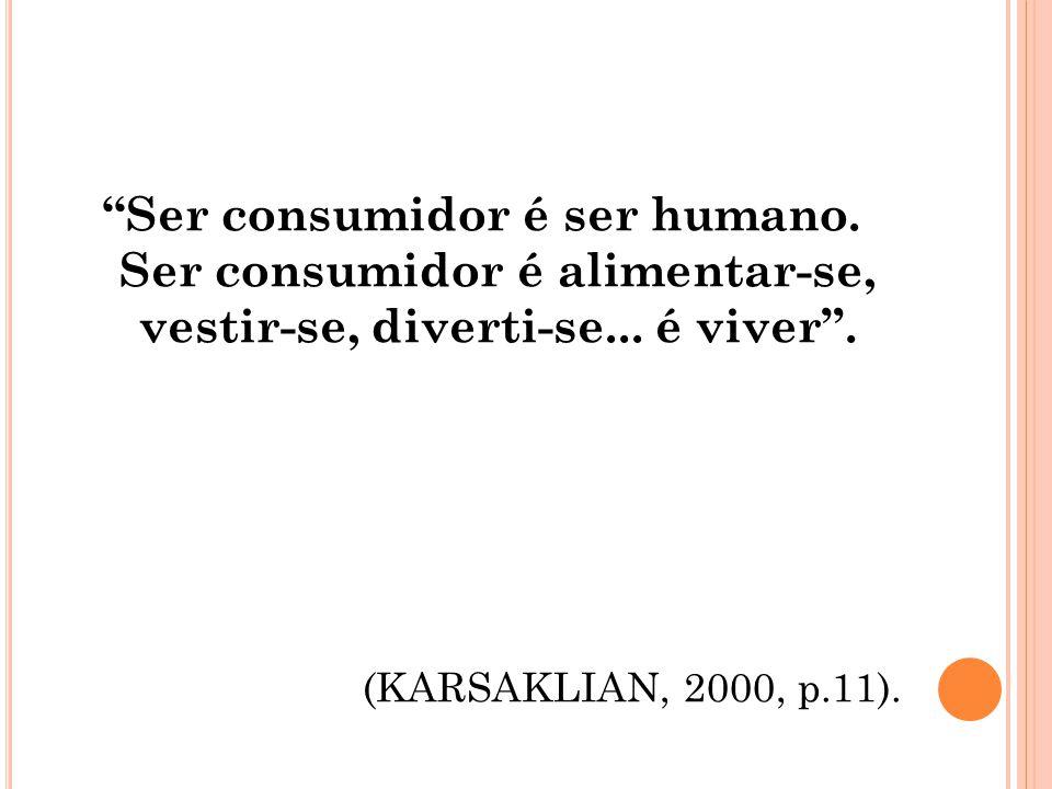 Ser consumidor é ser humano