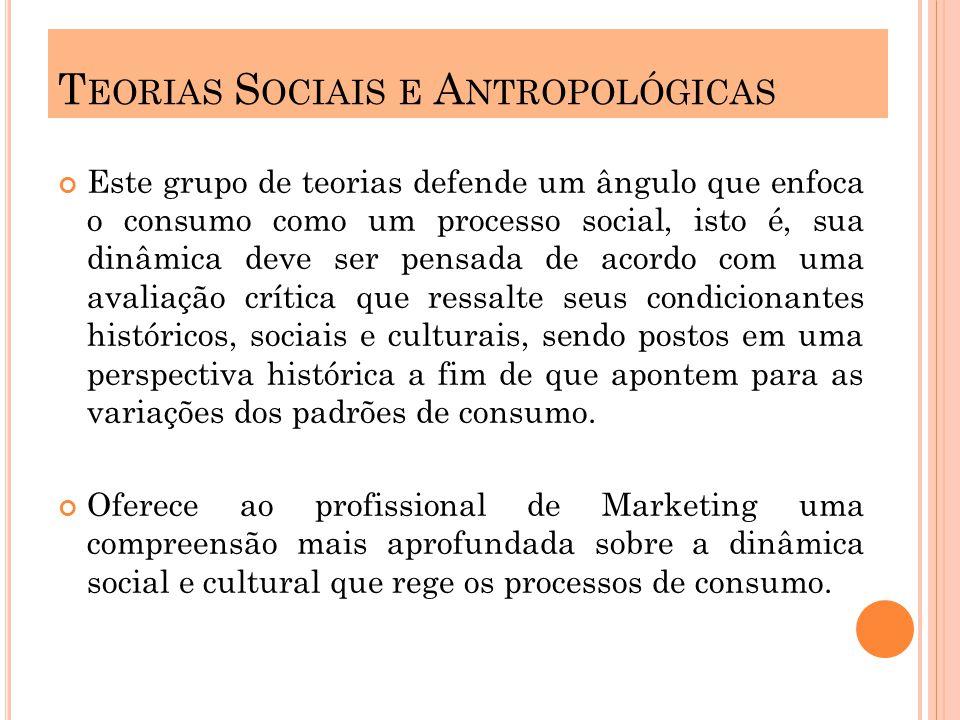 Teorias Sociais e Antropológicas